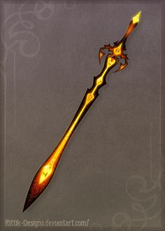 Volcano's Soul sword - Auction! by Rittik-Designs fire lava longsword bastardsword equipment gear magic item | Create your own roleplaying game material w/ RPG Bard: www.rpgbard.com | Writing inspiration for Dungeons and Dragons DND D&D Pathfinder PFRPG Warhammer 40k Star Wars Shadowrun Call of Cthulhu Lord of the Rings LoTR + d20 fantasy science fiction scifi horror design | Not Trusty Sword art: click artwork for source