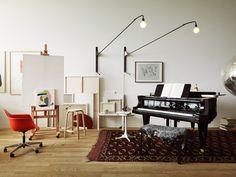 Studioilse arranges Vitra and Artek furniture into home for fictitious couple.