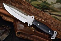 CFK USA Custom Handmade D2 Tool Steel Tactical Combat Spec Ops EDC Micarta Knife #CFKCutleryCo