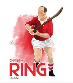 Christy Ring, Cork, Hurling, GAA, Munster, Ireland Munster Ireland, Cork Ireland, Sports Art, True Love, Legends, Rooms, Football, Game, Ring