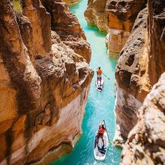 The vibrant blue-green waters in Havasu Creek a tributary of the Colorado River #GrandCanyon #AZ  Photo: @footloosefotography #wildernessculture by wilderness_culture