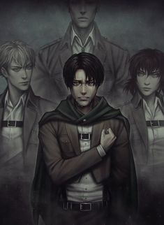 Levi Ackerman_Attack on Titan_Shingeki no kyojin Attack On Titan Fanart, Attack On Titan Ships, Attack On Titan Anime, Sad Anime, Anime Guys, Manga Anime, Levi And Erwin, Levi X Eren, Ereri
