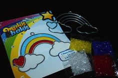 Just in... Makit & Bakit Rainbow and Cloud Sun Catchers!  Reminds us of the 80's...  shop @ www.craftsuppliesforless.com