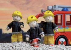 Amazon.com: Budkins Firefighters Figure Set: Toys & Games