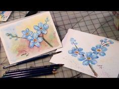 Forget Me Not Inktense Tutorial