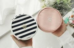 The *Jewelry Pouch* is a very beautiful and well made pouch! The Jewelry Pouch is a double sided pouch that can be used to store and organize all your precious jewelries! When unzipped, you will see top and bottom compartment that each has differe...