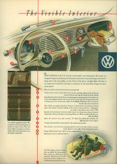 Interior VW typ 11C Reuters. 1953