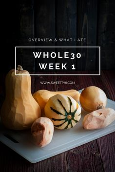 Whole30 overview, whole30 week1 overview, whole30 overview and what i ate