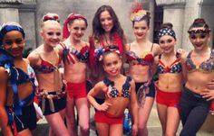 Nia, Paige, Chloe, Gianna, Asia, Brooke, Maddie, and Brooke :) #DanceMoms #America OMG ASIA Can't wait to watch this tonight! I love ASIA!