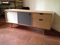 TV series 2 sliding doors 2 drawers. by Woodareyou on Etsy