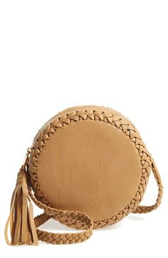 Big+Buddha+Faux+Leather+Round+Crossbody+Bag+available+at+#Nordstrom