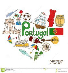 Symboles Portugais Dans Le Concept De Forme De Coeur - Télécharger parmi plus de 37 Millions des photos, d'images, des vecteurs et . Inscrivez-vous GRATUITEMENT aujourd'hui. Image: 48125625