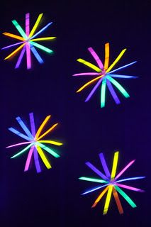 You could totally make these an much more out of glow sticks taped on a wall! Great for a glow-in-the-dark/neon party!