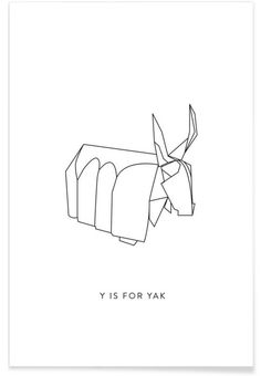 Y als Premium Poster door Julia Marquardt | JUNIQE