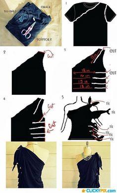 simple craft ideas for 2014 Diy Gallery, Diy Crafts, diy crafts gallery. diy shirt, diy crafts, clothes refashion, clothing refashion, diy fashion, shirt craft, one shoulder, diy clothing, diy clothes
