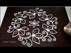 kolam designs with 9 to 5 dots for pongal    sankranthi muggulu designs    easy rangoli designs - YouTube