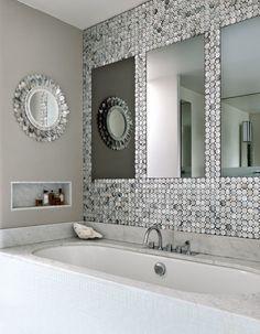 Une salle de bain gris nacré - Marie Claire Maison