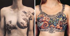 Tattoo Artists Cover Breast Cancer Survivors� Scars With Beautiful Tattoos