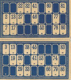 Vintage Lotto Game Board.  The game included small round wooden discs with numbers. We played this as kids.