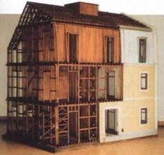 Gaiola tridimensional de madeira (modelo de instrucção dos B.S. Lisboa à escala 1:10)