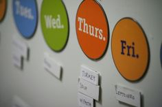 Weekly dinner planning magnets