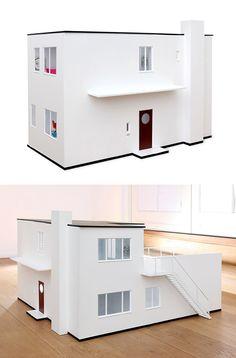 Modern Doll Houses: A doll house replica of Arne Jacobsen house