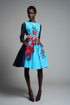 Tracy Reese Pre-Fall 2012  from an old collection but still gorgeous! 1950's meets the influence of global brights and sophistication. I love the model they chose for this.