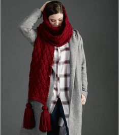 15b602899970c How To Make A Make It Big Knit Scarf Tricô E Crochê