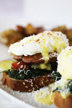 Greek-Eggs-Benedict- | figsandfeta.com