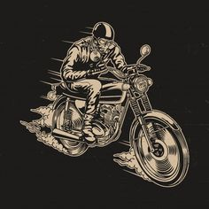 Man riding motorcycle vector illustration Premium Vector Avenged Sevenfold Wallpapers, Honda Cb 100, Bike Illustration, Bike Photography, Mosaic Pictures, Motorcycle Art, Hand Sketch, Art Logo, Graphic Design Inspiration