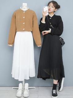 Korean Fashion Trends, Korea Fashion, Muslim Fashion, Japan Fashion, Modest Fashion, Girly Outfits, Retro Outfits, Korean Outfits, Classy Outfits
