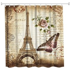 Creative Playing Cards Wooden Door Bathroom Fabric Shower Curtain Set 71Inches