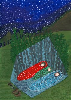 Excursion, duermiendo en la carpa
