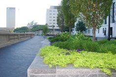 Bicentennial Park & Scioto Mile in Downtown Columbus, OH Bicentennial Park, Columbus Ohio, Sidewalk, Landscape, Sidewalks, Landscaping, Pavement, Walkways