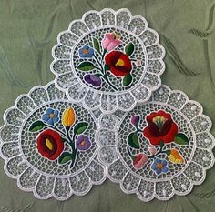 efbea9d205 Discover thousands of images about Kalocsa lace (Richelieu) small  tablecloth with authentic Hungarian embroidery patterns - (Id: