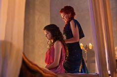 Still of Lucy Lawless and Hanna Mangan Lawrence in Spartacus: Vengeance
