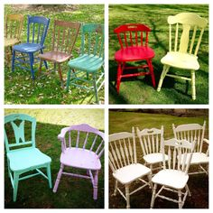 **All Chair Shown in Photos Have Already Been Sold - Shown as Examples Only** **please fully read listing specs and convo us before purchasing this item**  One of our specialties here at Wild Boar Designs is farm house style chairs!  We are surrounded by farms and a rural community here in Pennsylvania that gives us access to amazing vintage and antique chairs ready to be refinished to go perfectly with your home and decor.  Perfect for your beach home, chic cottage, farm house or even a…