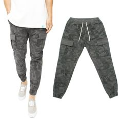 NEED 니드 [NEED] Pocket Camo Jogger Pants Gray 포켓 카모 조거팬츠