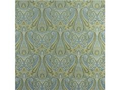 "Kravet A TIME FOR A TREAT Contents 100% Silk Details SKU: 29293.15 Company: Kravet Cover Type: Silk Grade: 0049 Color: Light Blue, Green, Yellow/Gold Color Family: Blue, Green, Yellow Cleaning Code: S Finish Treatment: Use Backing For Light Uph Repeat Height: 18"" Repeat Width: 14"" Direction: Up The Bolt Fabric Width: 54"" Design Style: Damask Country of Origin: China Pattern Type: Damask, Paisley Use: Upholstery Exclusive: Yes Brand: Kravet Couture Showroom Only Product: Yes"