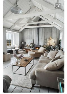 I like the rafters, or gables? Painted white, or natural timber could work?