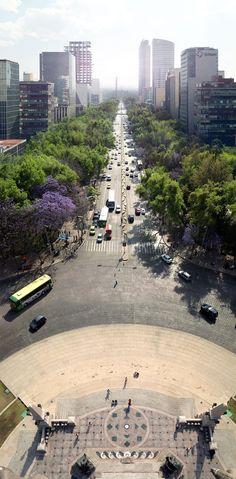 Av. Paseo de la Reforma en la Ciudad de México