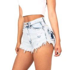 Fashion Tassel Ripped Denim Shorts Women Summer Vintage Distressed Denim Shorts Plus Size Girls Hot Shorts - & Sexy Jeans, Sexy Shorts, Stylish Jeans, Ripped Shorts, Ripped Denim, High Waisted Shorts, Women's Jeans, Casual Jeans, Skinny Jeans