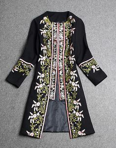 embroidered wool coat. Reminds me of Phryne Fisher!