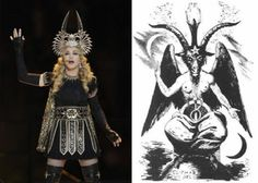 Madonna's headdress | 33 Signs The Illuminati Is Real