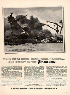 1942 More Disastrous than Pearl Harbor Original World War 2 WW2 Print Ad