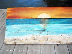 Lake Girl Paints: Pallet Art