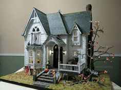 Inspiration: Amazingly detailed miniature Victorian farm house - loads of photos and details of how certain effects were created... Museum quality piece! | Otterine