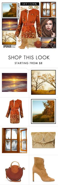 """""""CHANGING SEASONS: It's Autumn"""" by polyvore-suzyq ❤ liked on Polyvore featuring Pottery Barn, Valentino, Hayward, Chloé, Jimmy Choo, Sebastian Professional and Gucci"""