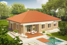 Picture of Eco-friendly Contemporary House Plan Village House Design, Kerala House Design, Bungalow House Design, Bungalow House Plans, House Plans Mansion, My House Plans, Architect Design House, Architectural Design House Plans, Modern House Floor Plans