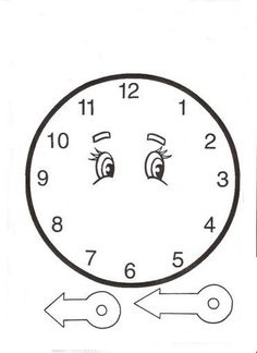 Kids Learning Activities, Classroom Activities, Fun Learning, Preschool Activities, Clock Template, Face Template, Clock Face Printable, Pre K Worksheets, Clock Craft